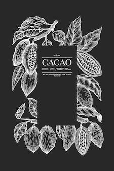 Какао баннер шаблон.