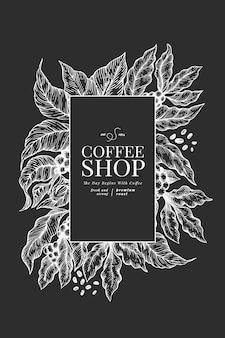 Шаблон кофе плакат.