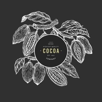 ココア豆の木バナーテンプレート。