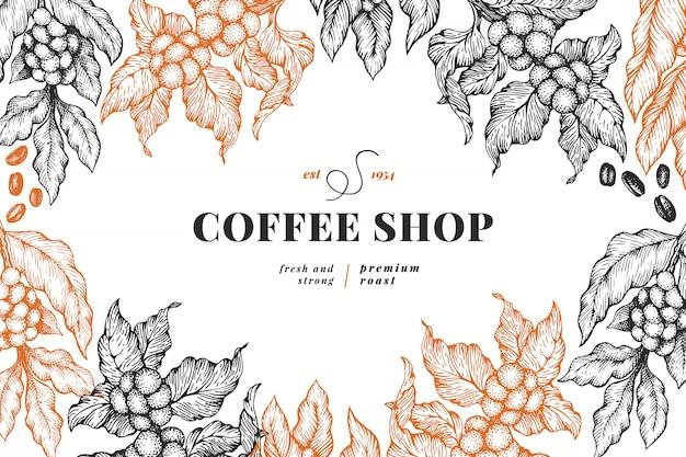 コーヒーショップのポスター