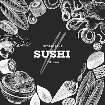 Постер японской кухни