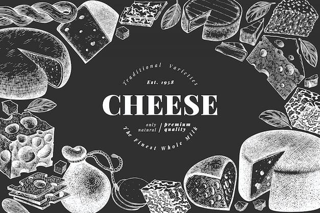 Шаблон иллюстрации сыра