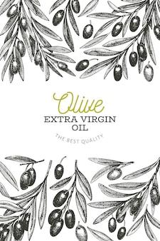 Оливковая ветвь шаблона.