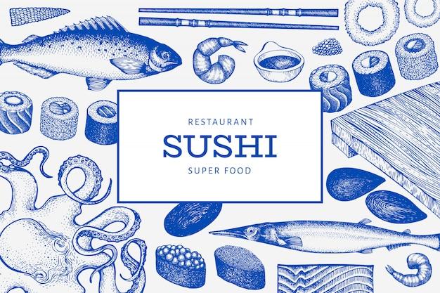 日本料理のテンプレート。