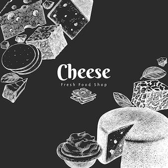 チーズのテンプレート。