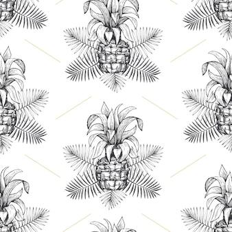 パイナップルのシームレスパターン