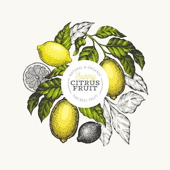 Фон лимонное дерево