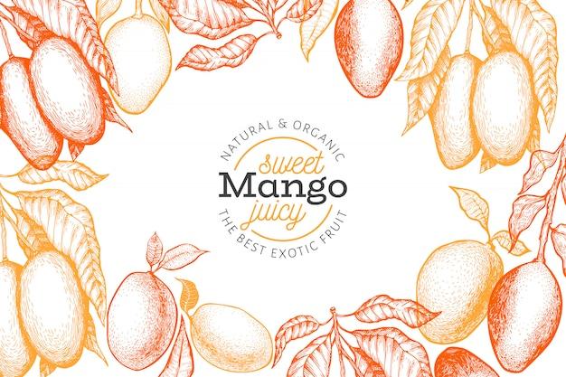 Шаблон рамки манго