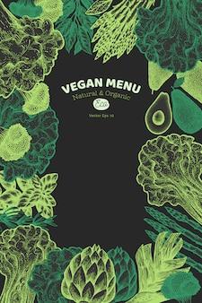 緑の野菜のデザインテンプレート