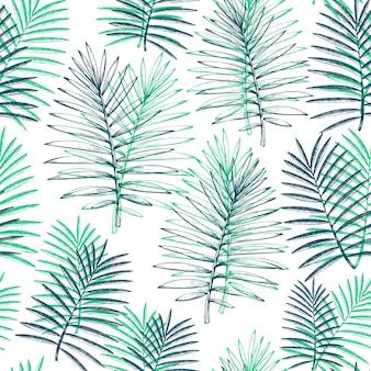 熱帯植物のシームレスパターン