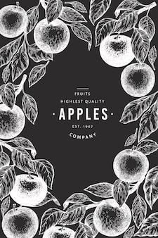 リンゴの枝のデザインテンプレート