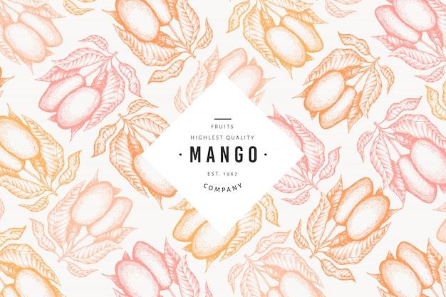 Манго шаблон.