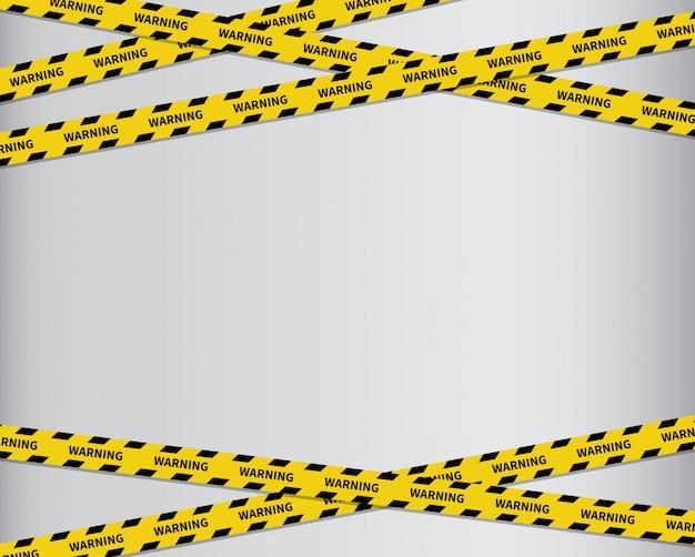 テープの背景を警告します。黒と黄色の縞模様。