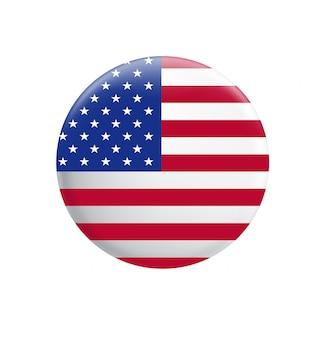 Флаг соединенных штатов америки. кнопка флага сша