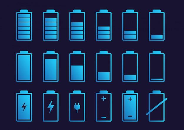バッテリー充電インジケーターアイコン。