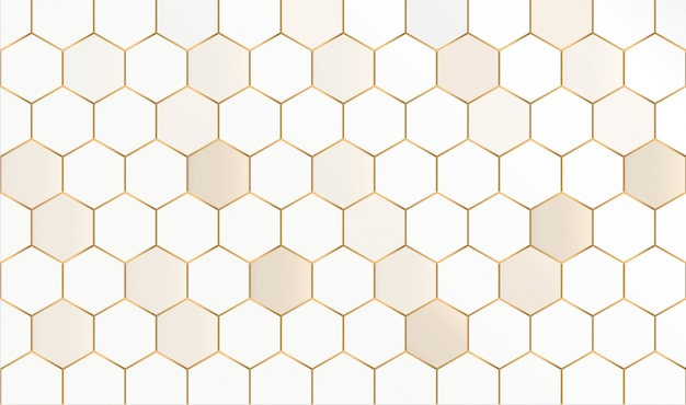 抽象的な六角形のシームレスパターン。抽象的なハニカム