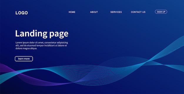 ウェブサイトのテンプレート。リンク先ページモダン