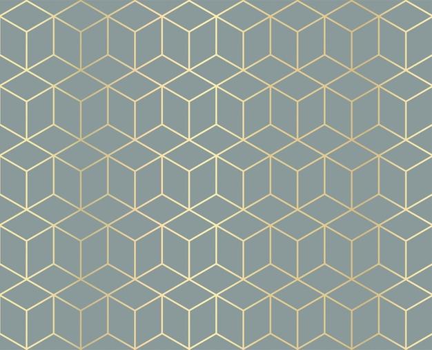 黄金の幾何学模様の背景