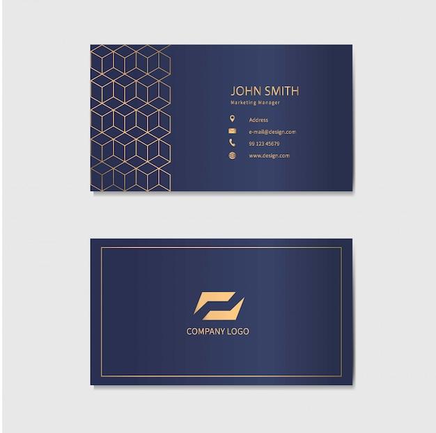 Современный шаблон визитной карточки. абстрактный геометрический фон.