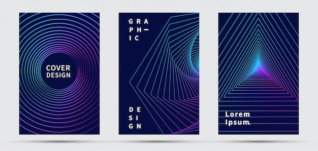 表紙デザインテンプレート。モダンなデザイン
