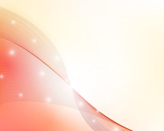 赤の抽象的な波状の背景。