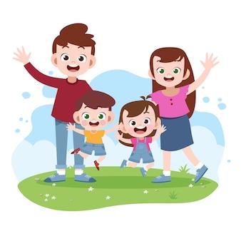 幸せな家族のベクトル図