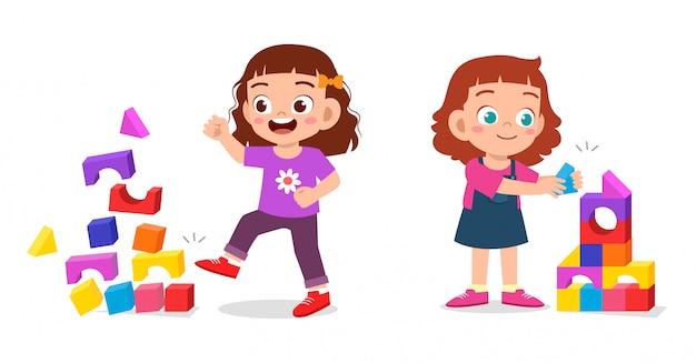 例の子供の女の子の良い行動と悪い行動