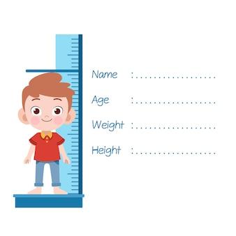 子供測定高さベクトルイラスト絶縁