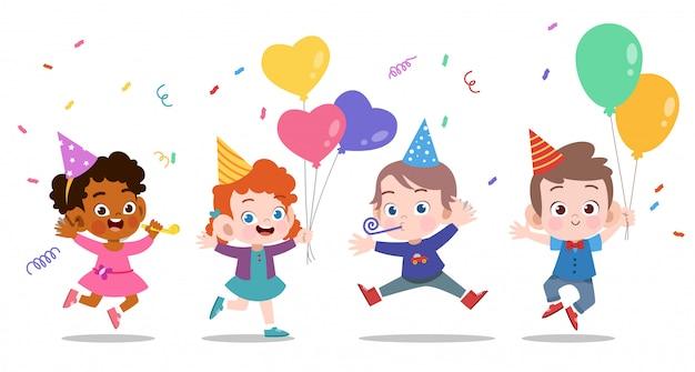 幸せな子供の誕生日