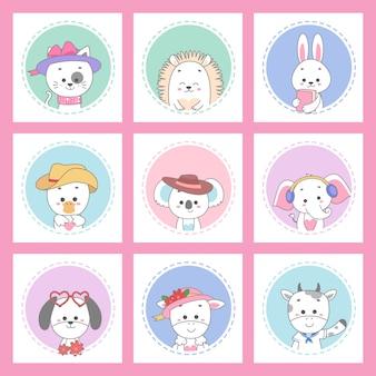 かわいい動物カードセット