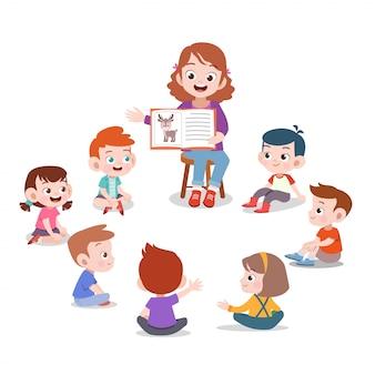 Учитель и ученик в классе
