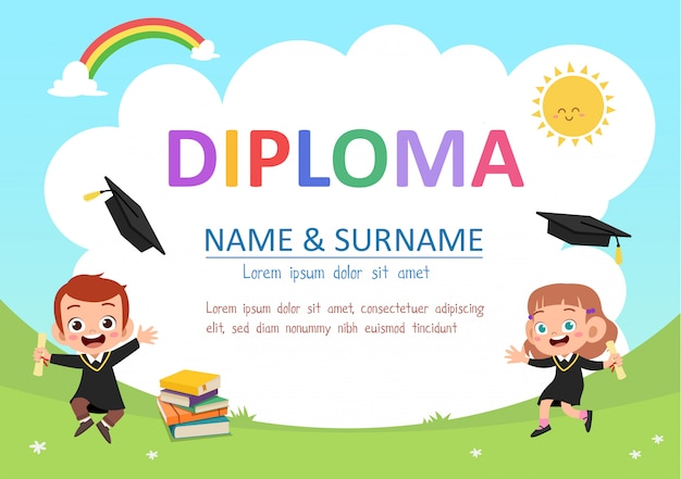 Дошкольный детский диплом