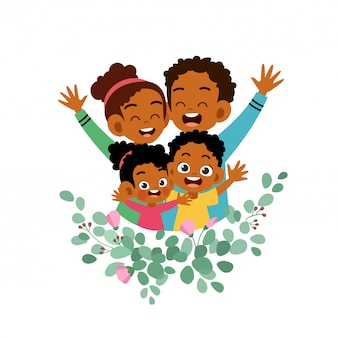 幸せな家族の日カードグリーティングカードベクトル図
