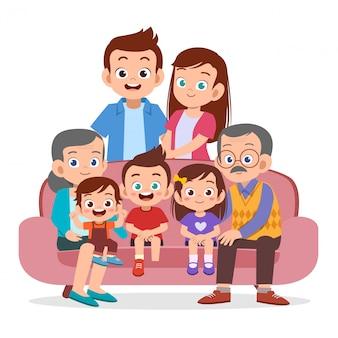 家族が集まる