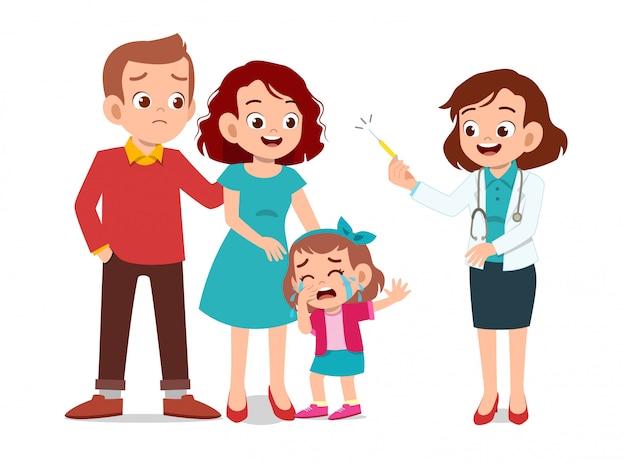 Дети с осмотром родителя