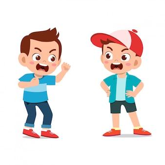 Дети спорят с другом