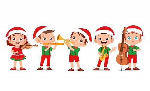 Счастливое рождество детей поет мюзикл