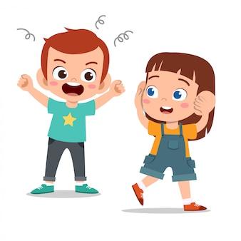 Малыш хулиган друг плохое поведение не хорошо