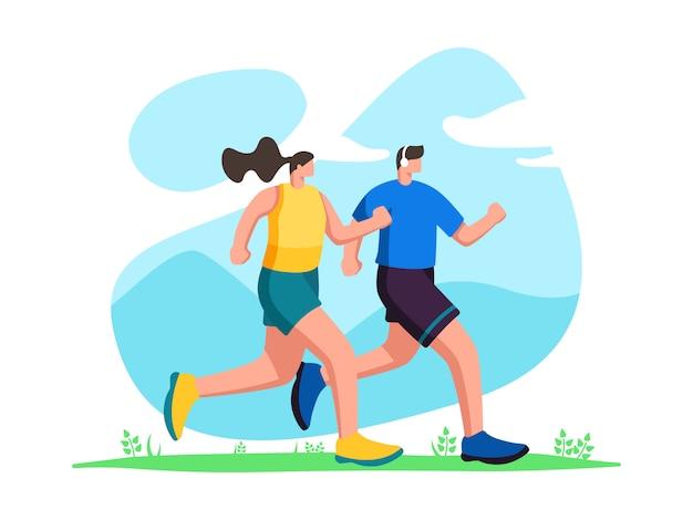 ジョギングの図