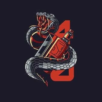 Иллюстрация змея вейп