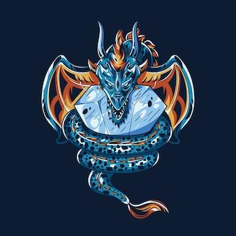 Дракон иллюстрация
