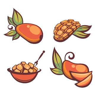 Свежий спелый манго, иллюстрация