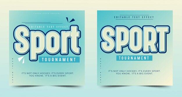 Заголовок или заголовок спортивного события, редактируемый текстовый эффект, простой пользовательский