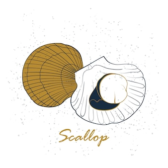 ホタテ貝のロゴ
