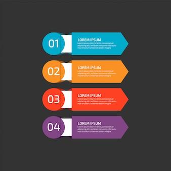 ビジネスのための手順を持つモダンなインフォグラフィックテンプレート