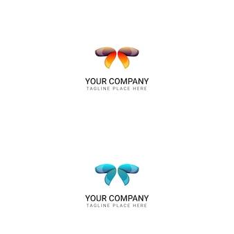 創造的な蝶のロゴデザイン - ベクトル