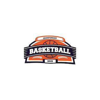 バスケットボールスポーツのロゴデザイン