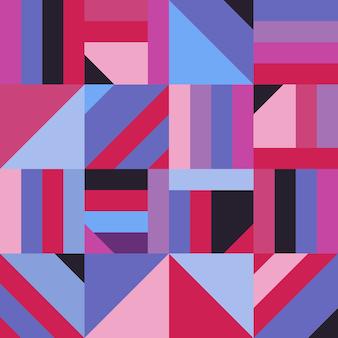 抽象的な幾何学的形状の装飾のシームレスパターン。現代のモザイク