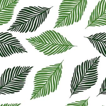 抽象的なジャングル植物のシームレスパターン