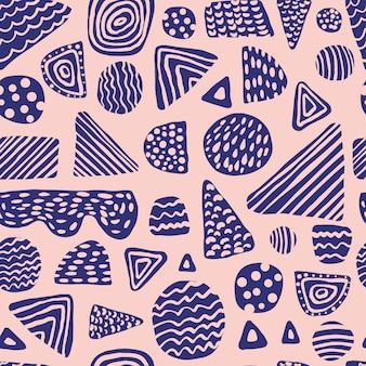 シンプルな色付きの形のシームレスパターン